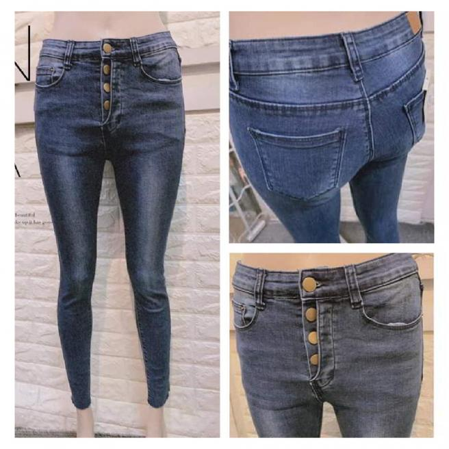 Fashion buttoned jeans
