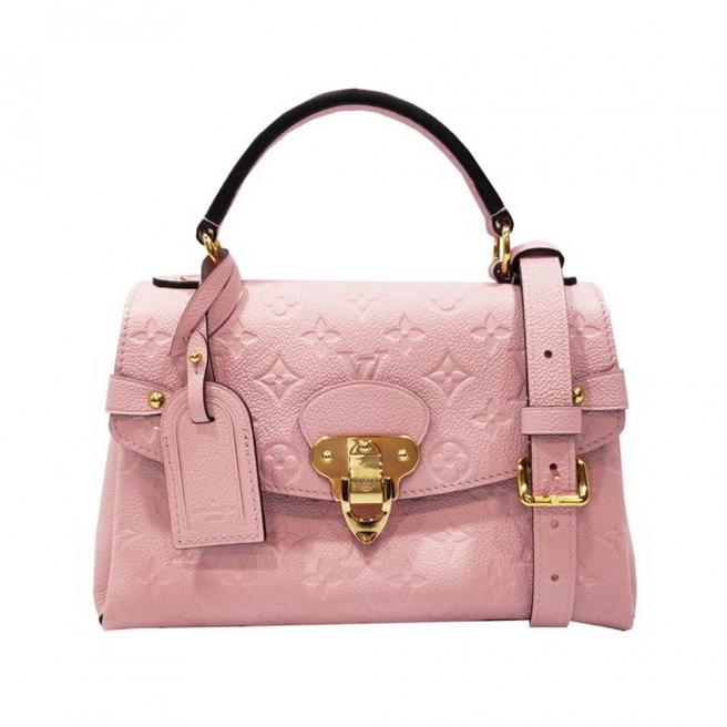 【Louis Vuitton】Monogram Empreinte Embossed Leather Cross Body Bag (Rose Pink)